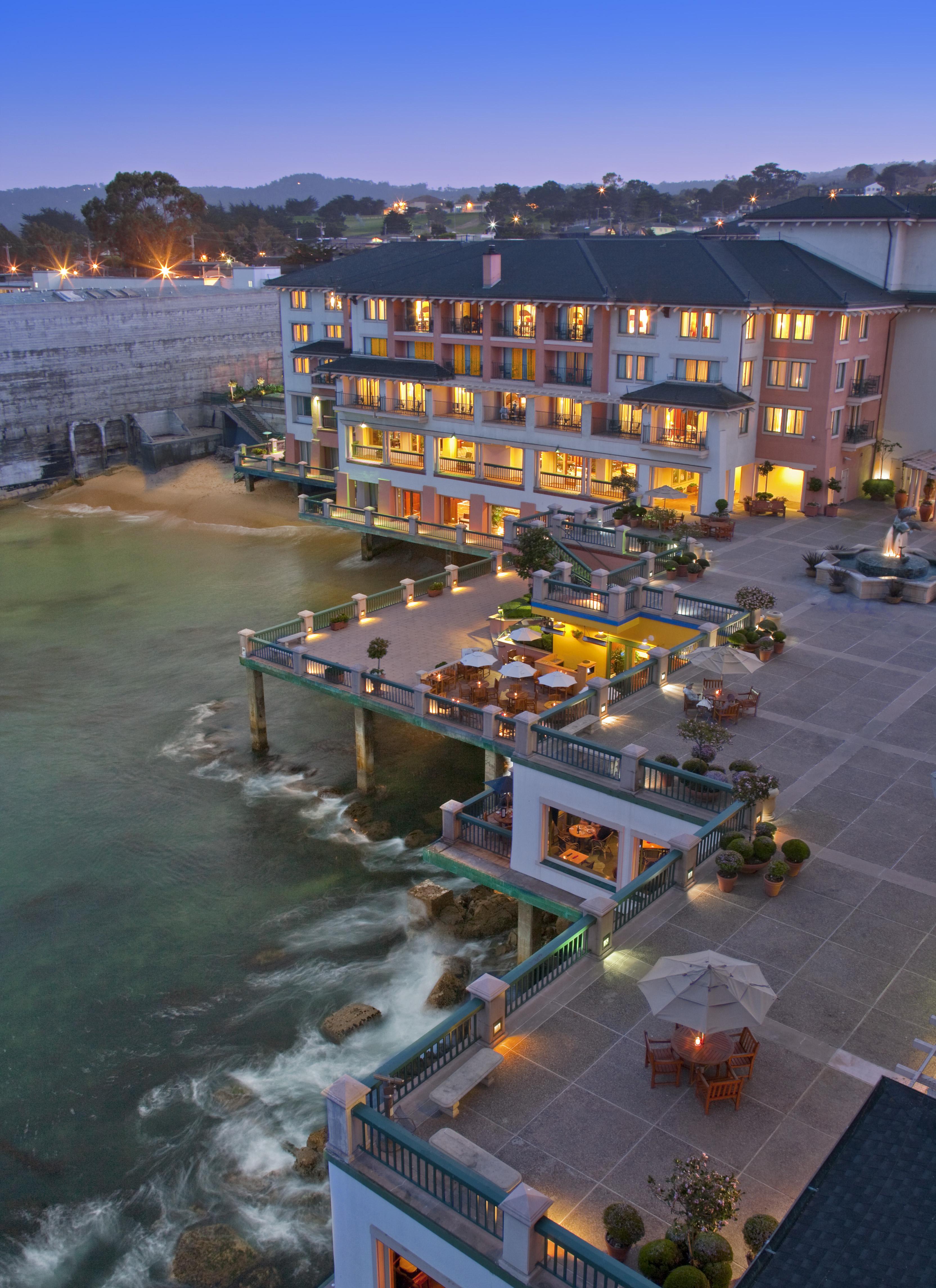 Evening Exterior vertical Monterey Plaza