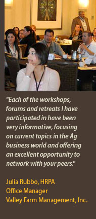 Julia Rubbo, HRPA Office Manager Valley Farm Management, Inc.